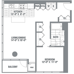 Floor plan with Magic‑Pak